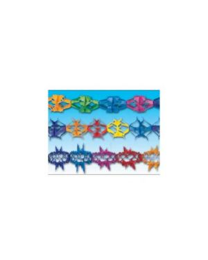 Blister 3 festoni carta assortiti colorati 6mt cad. Pegaso PB 918_56870