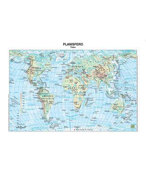 Carta geografica scolastica plastificata mondo 297x420mm belletti BS02P 56943A BS02P_56943 by Belletti