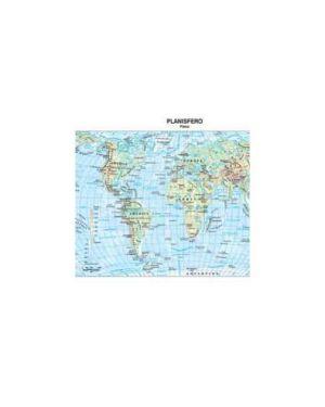 Carta geografica scolastica plastificata mondo 297x420mm belletti Confezione da 20 pezzi BS02P_56943