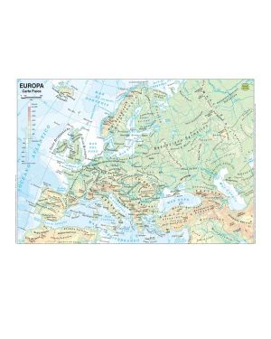 Carta geografica scolastica plastificata europa 297x420mm belletti BS03P 56944A BS03P_56944 by Esselte