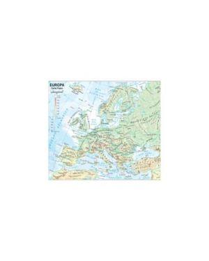 Carta geografica scolastica plastificata europa 297x420mm belletti Confezione da 20 pezzi BS03P_56944
