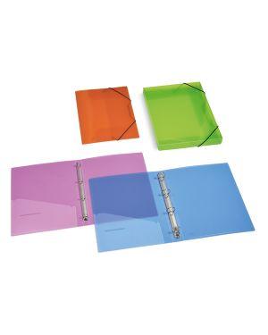 Cartella ppl c/elastico trasparente assortiti 355x265mm dorso 30 CONFEZIONE DA 12 2525-ASS_57142