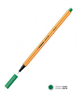 Pennarello stabilo point 88/43 verde chiaro CONFEZIONE DA 10 88/43_57150