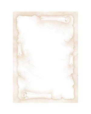 "Carta con stampa ""pergamena"" avorio a4 90gr 20fg decadry T036720 5413493181814 T036720_57194 by Decadry"