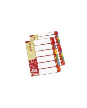 Separatore 6 tasti colorati cartoncino a4 festival 1600226_57335
