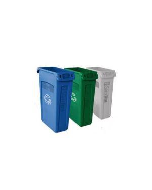 Contenitore slim jim c/maniglie 87lt verde con logo ricicl. Rubbermaid 3540-07-GRN_57463