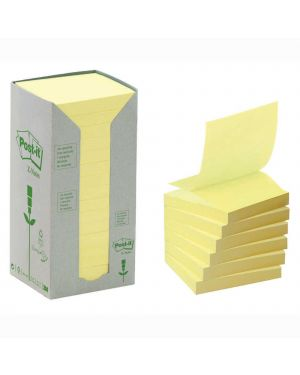 Blocco 100foglietti post-it®z-notes green 76x76mm r330-1t giallo ricicl.100 61897 57679AA 61897_57679 by Esselte