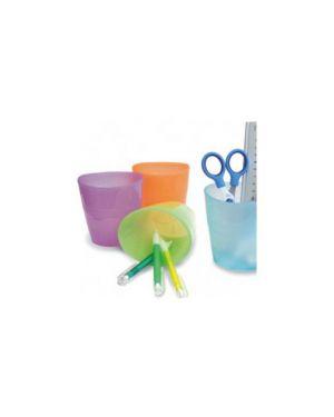 Bicchiere portapenne azzurro trasp. smile ard TR5111BL_57983