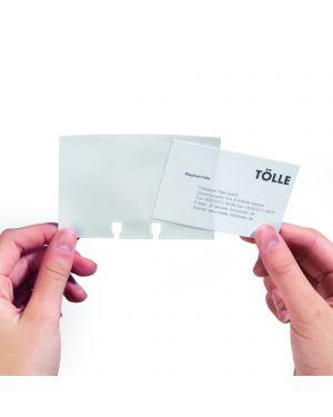 Set 40 bustine biglietti visita per schedario 2417 durable 2418-19_57999