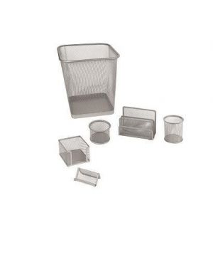 Set ufficio 6 pezzi silver Lebez 1426-S 8007509026397 1426-S_58002 by Lebez
