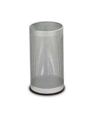 Portaombrelli tondo grigio h 48cm in metallo forato F450262 8033630002160 F450262_58108 by Stilcasa