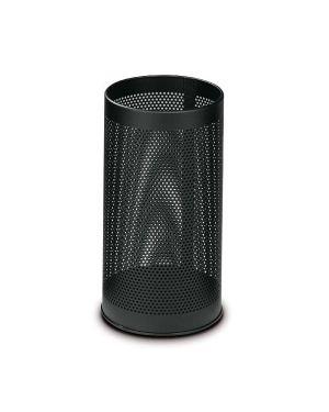 Portaombrelli tondo nero h 48cm in metallo forato F450265 8033630002177 F450265_58109 by Stilcasa