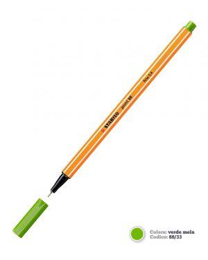 Pennarello stabilo point 88/33 verde CONFEZIONE DA 10 88/33_58496