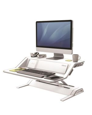 Sit stand lotus dx workstationbianc 8081101 by FELLOWES
