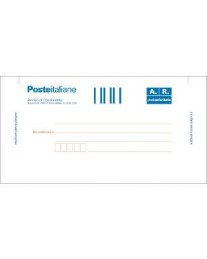 100 cartoline di ritorno raccomandata 10x20cm c/ades.rimov. e0622/1 E0622/1_59177