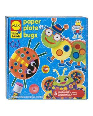 Kit creativo insetti con piatti di carta ALEX TOY cod. 1415 0731346141507 1415_59478 by No
