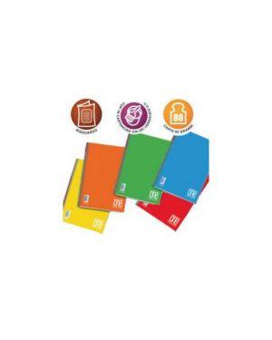 Quaderno a5 spiralato 5mm c/fori 80gr 60fg one color blasetti Confezione da 5 pezzi 1148_59612 by Blasetti