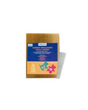 10fg cartoncino ondulato 50x70cm oro metal art 2225/1 cwr 2225/1_60767