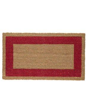 Zerbino cocco c/fondo in vinile 45x80cm rosso velcoc 101533-RO_60950