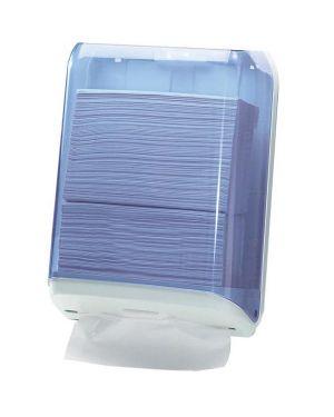 Dispenser asciugamani piegati trasparente - bianco mar plast A59310 8020090004285 A59310_61087 by Esselte