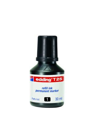 Ricarica inchiostro permanente 30ml t25 nero edding E-T25 001_61336