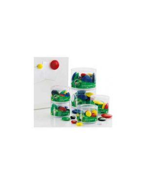 Barattolo 10 magneti tondi Ø 40mm colori ass. Art.2142 2142_61340 by Esselte
