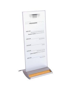 Portabrochure 10,5x21cm alluminio personal. alba SIGNA1/3A4T 3129710011018 SIGNA1/3A4T_61350 by Alba