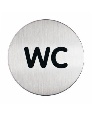 Pittogramma Ø 8,3cm 'wc' in acciaio 4907-23 4005546400167 4907-23_61379 by Durable