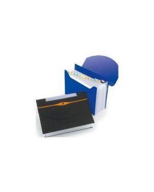 Cartella a 13 tasche 23x33cm blu optima expander 2102484_61614