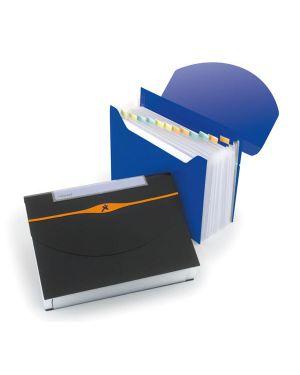 Cartella a 13 tasche 23x33cm blu optima expander 2102484 5028252066945 2102484_61614