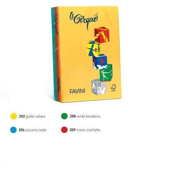 Carta lecirque a4 80gr 200fg mix 4 colori intensi favini A71X404 8007057627107 A71X404_61656 by Favini