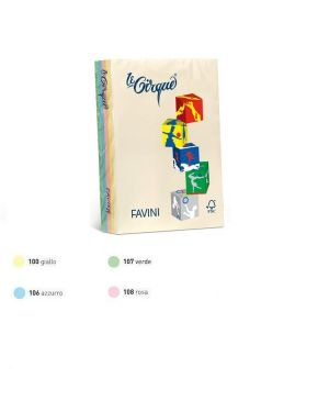 Carta lecirque a4 80gr 200fg mix 4 colori pastello favini A71X414_61659