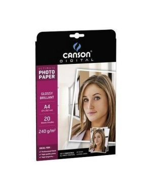 Carta inkjet a4 270gr 20fg photo satinata ultimate canson 200004329_61660 by Esselte