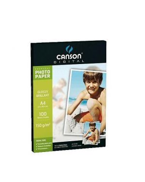 Carta inkjet a4 180gr 10fg photo glossy everyday canson 200004474_61666 by Esselte