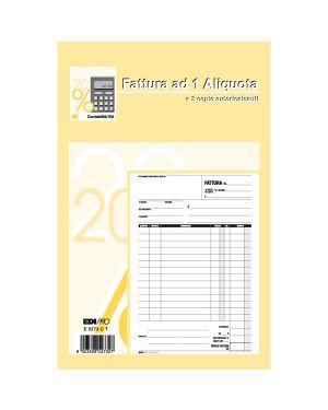 Blocco fattura 1 aliquota 23x14,8cm 33fg 3 copie autoric. e5273ct E5273CT 8023328527327 E5273CT_61711