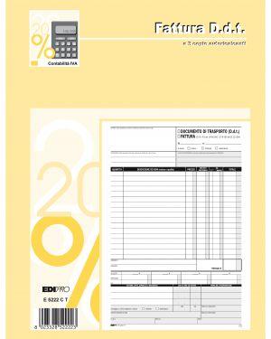 Blocco ddt - fattura 29.7x22cm 33fg 3 copie autoric. e5222ct E5222CT 8023328522223 E5222CT_61715 by Edipro