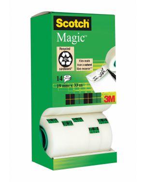 Multi-pack 12+2 rotoli sfusi di nastro scotch magic 810 perm. 19mmx33mt 9252 4046719071371 9252_61768