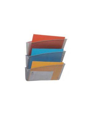 Set 3 vaschette da parete mesh argento in rete metallica alba MESHFILE/M_61910