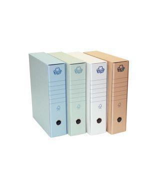 Registratore eco new azzurro dorso 8cm f.to protocollo CONFEZIONE DA 12 0201170-AZ_62074