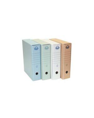 Registratore eco new azzurro dorso 8cm f.To protocollo Confezione da 12 pezzi 0201170-AZ_62074