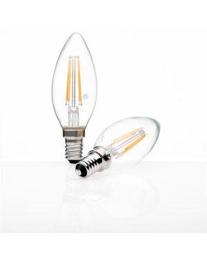 Led candle e14 3 7 watt 2700 glass Nilox LNCDE14WW04W04 8056326620172 LNCDE14WW04W04 by No