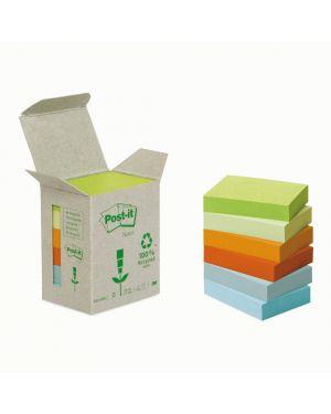 Blocco 100foglietti post it®notes green 38x51mm 653 1gb natural CONFEZIONE DA 6 21856_64217