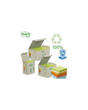 Blocco 100foglietti post-it®notes green 38x51mm 653-1gb natural Confezione da 6 pezzi 21856_64217 by Esselte