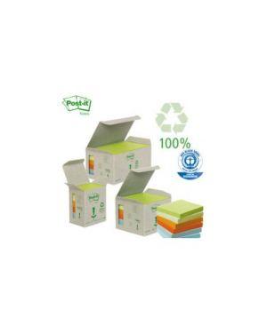 Blocco 100foglietti post-it®notes green 38x51mm 653-1gb natural Confezione da 6 pezzi 21856_64217 by Post-it