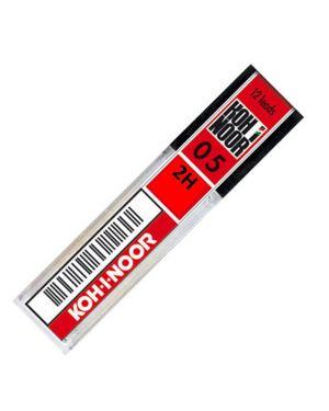 Astuccio 12 micromine 0,5mm 2h e205 kohinoor E205-2H 8032173005928 E205-2H_64249