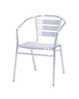Sedia impilabile in alluminio 53x57cm - h72cm 40214R 8032937534251 40214R_64633