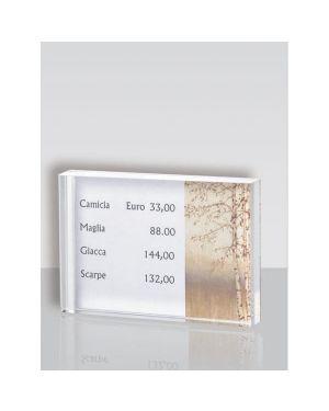 Porta prezzi da banco small 10x7x2cm in acrilico ACR030 8010026007367 ACR030_65227 by Tecnostyl