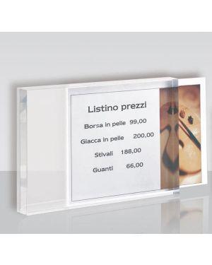 Porta prezzi da banco medium 10x14x2cm in acrilico ACR031 8010026007374 ACR031_65228 by Tecnostyl
