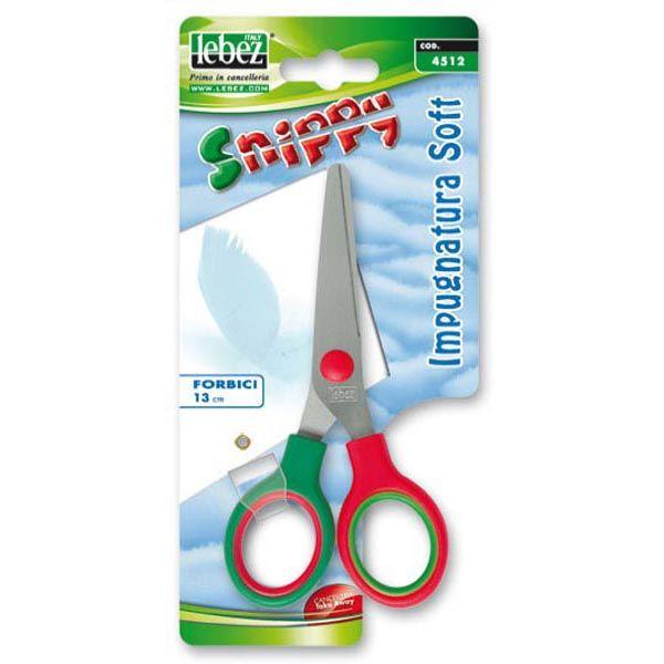 Forbici snippy soft 13cm punta tonda 4512 lebez 4512 8007509045121