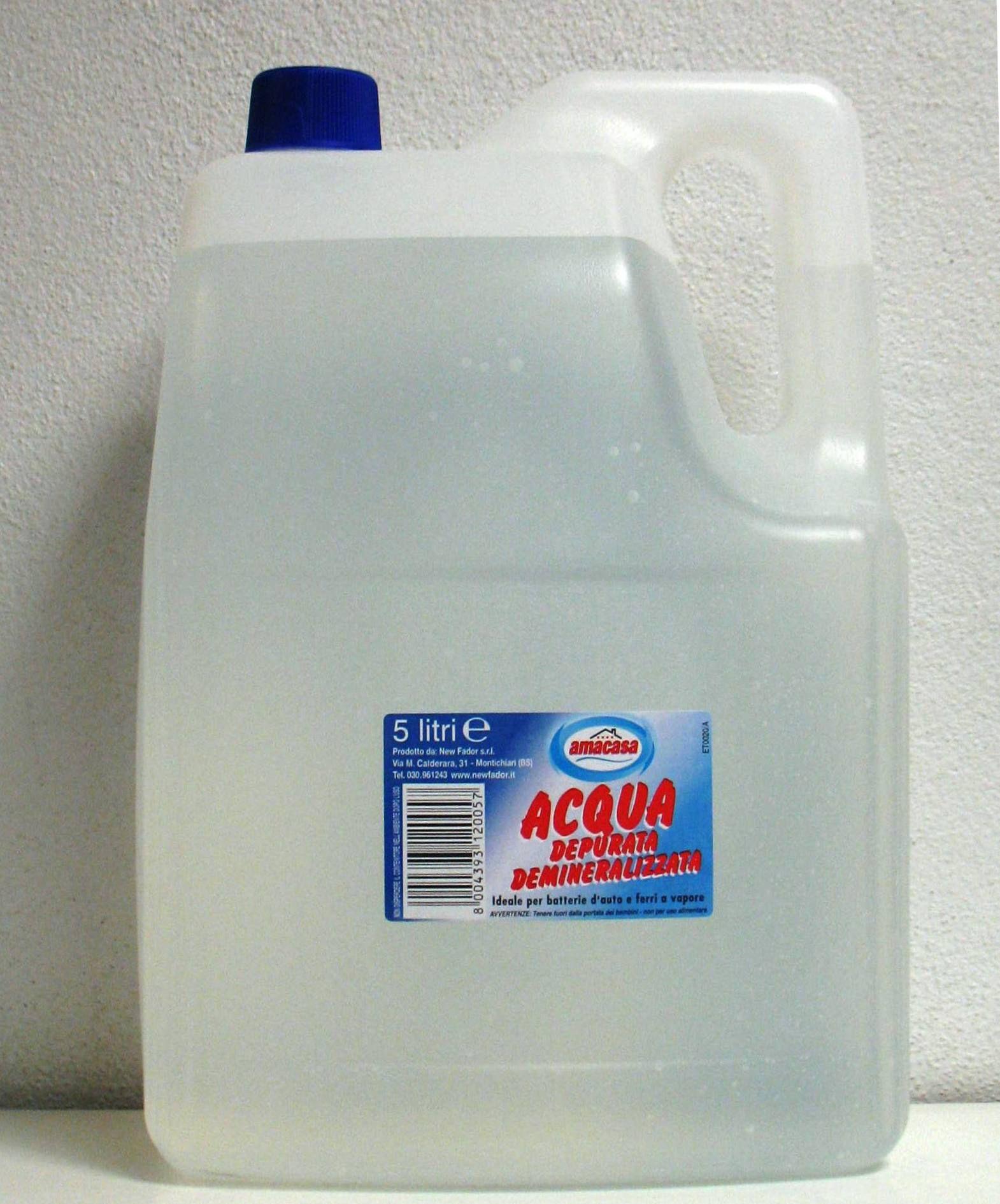 Acqua demineralizzata 5lt amacasa 2H.5004 8004393120057